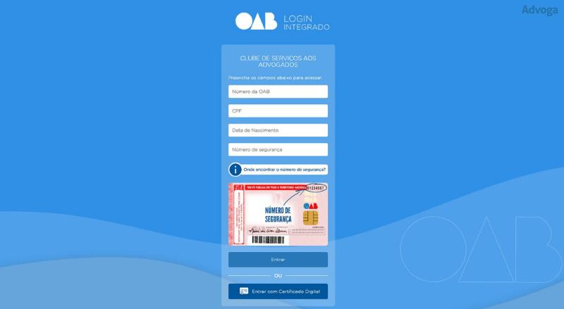 Clube de Serviços OAB - Login